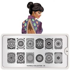 Say hello to Shakti! Her name means empowerment and female principle of divine energy. She represents this collection and all things Mandala.● MoYou-London Mandala 04 includes 12 different designs, each measuring 1.5 x 2cm. ● The stainless steel plate measures 6.5 x 12.5cm and have a vinyl backing for increased ease of use. ● Each plate comes in its own branded protective sleeve. ● The designs are engraved on to the image plate and covered with a protective film which needs to be removed ...