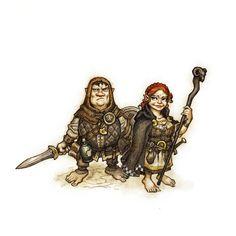 m f Halfling Adventuring couple JOHAN EGERKRANS