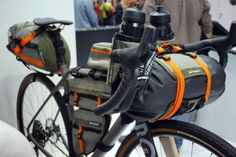 birzman bikepacking handlebar roll bag and stem-mount bottle bags GRVL Touring Bicycles, Touring Bike, Bikepacking Bags, Velo Design, Velo Cargo, Bicycle Workout, Bike Bag, Commuter Bike, Bike Storage