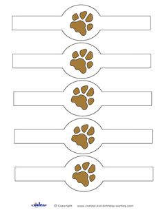 Printable Paw Print Napkin Holders Coolest Free Printables