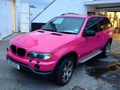 Pink BMW X5