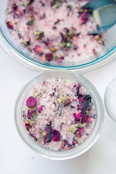 DIY Vanilla Rose Bath Salts