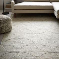 Metallic Leaf Tile Jute Rug | West Elm bedroom rug? too light for living room