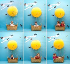 *Cute kids or baby photo idea in Hot Air Balloons