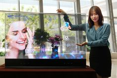Samsung shows retail-ready transparent, mirrored OLED