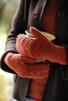 Grove mitten pattern by Brooklyn Tweed Brooklyn Tweed, Knit Mittens, Mitten Gloves, Mittens Pattern, Maude, Sweater Weather, Pulls, Warm And Cozy, Stay Warm