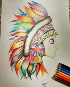 24 New Ideas Art Pencil Crayon Pictures Oil Pastel Paintings, Oil Pastel Art, Indian Art Paintings, Pastel Drawing, Art Drawings For Kids, Colorful Drawings, Crayon Art, Pencil Art Drawings, Girl Drawing Sketches