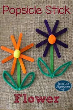 Making a Popsicle Stick Flower is the perfect way to celebrate that Spring has finally arrived! I love popsicle stick crafts for kids that are not only fun but easy for young children to make too.