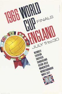 Affiche de la Coupe du Monde de football de 1966 en Angleterre !