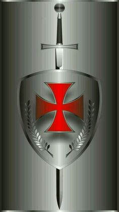 I chose the sword and shield of the crusaders to symbolize ones defending their belief in Catholicism. To confirm this, means you join the ranks of believers who defend what they believe in. Vasco Wallpaper, Knights Templar Symbols, Shield Tattoo, Knight Tattoo, Knights Hospitaller, Knight Sword, Knight Shield, Crusader Knight, Christian Warrior