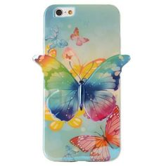3D Blue-ray IMD Craft Butterfly Flexible TPU Back Case for iPhone 6 ( Multiple Butterflies)