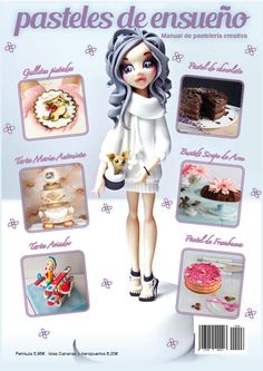 New cover in Spanish and English Pasteles de ensueño Magazine 7  - Cake by Marilo Flores
