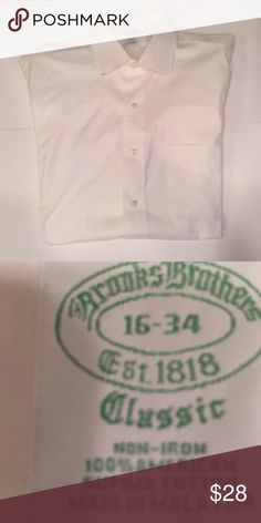 Men's brooks brothers non iron dress shirt size L Item is in great condition, feel free to message me any concerns you may have with the product! Brooks Brothers Shirts Dress Shirts