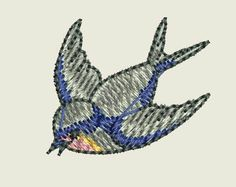 """Free embroidery design """"Sparrow"""""""
