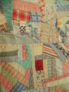 1930's Flour Sack Crazy Quilt    oneofakind by CuriosityOwl