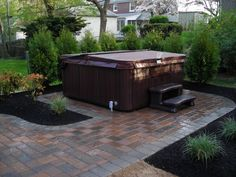 Considering installing a hot tub on your deck or patio get design ideas and inspiration from . enchanting hot tub privacy ideas in small backyard Hot Tub Privacy, Hot Tub Backyard, Backyard Patio, Backyard Garden Design, Patio Design, Floor Design, Backyard Designs, Garden Tub, Garden Oasis