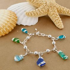 Sadie Green's Sea Glass Charm Bracelet