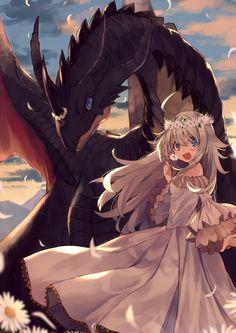 Anime / Manga The Girl & The Dragon Flower Crown Mdieval Era