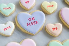 on fleek! > conversation heart decorated cookies