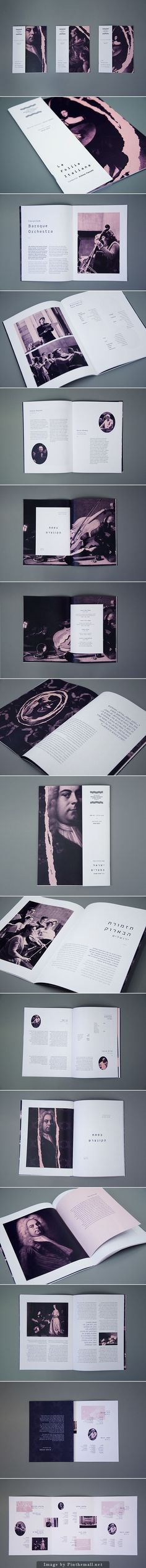 Jerusalem Baroque Orchestra, is the first Israeli orchestra playing baroque music instruments and musical techniques that were common in those days. The renewed branding is designed to expose the orchestra to new audiences and express her uniqueness. #booklet #MiriOrenstein