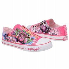 Ed Hardy Sneakers Women   Ed Hardy Women's LR Santiago Shoes (Fuchsia Canvas) - 5115121121197274