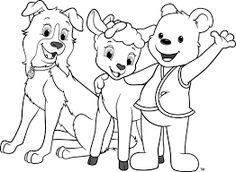 Awana Cubbies Bear Sheep Dog Coloring Page