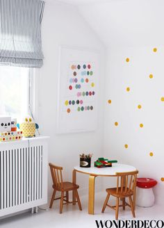 Children's room - Dotted wall - Via Wonderdeco