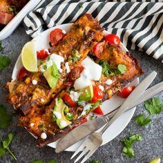 #delicious Skinny Sweet Potato Enchiladas #foodie