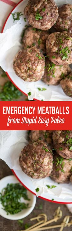 Never be left unprepared again! Keep these Emergency Meatballs in the freezer for those times you need protein in a hurry! Paleo & Whole30. | StupidEasyPaleo.com