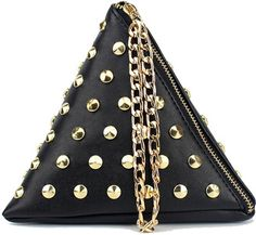 Shop for Shein Studded Detail Triangle PU Bag at ShopStyle.com