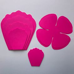 SVG Paper Flower Template With Center Original Design by