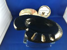 Vintage Plymouth Products Retro Black and Gold Ceramic Ashtray | eBay