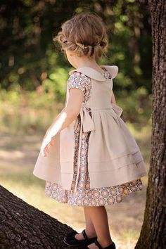 Introducing: Matilda and Rosemary {peasant dress and pinafore} - Violette Field Threads Little Girl Fashion, Fashion Kids, Little Girl Dresses, Flower Girl Dresses, Dress Girl, Little Girl Dress Patterns, Vintage Baby Dresses, Kids Dress Patterns, Skirt Patterns