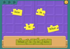 Sentence Building - great sites for young students to work on building and creating complete sentences - found at: Technology Rocks. Kindergarten Writing, Teaching Writing, Kindergarten Lessons, Teaching Technology, Educational Technology, Educational Websites, Reading Centers, Literacy Centers, Literacy Display