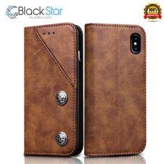 iPhone X Wallet Leather Case,FOGEEK Vintage Premium PU Leather Case Book Design  #Fogeek Iphone 10, Apple Iphone, Iphone Cases, Leather Case, Leather Wallet, Pu Leather, Black Star, Book Design, Books