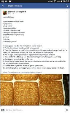 Tart Recipes, Pudding Recipes, Sweet Recipes, Cookie Recipes, Dessert Recipes, Yummy Recipes, Milktart Recipe, Kos, Milk Tart