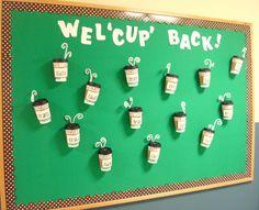 Welcome Back To School Bulletin Boards Ideas | Coffee-themed Bulletin Board