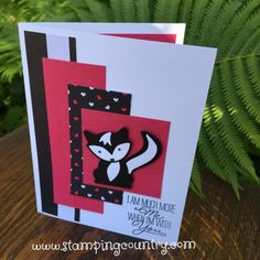 Skunk Punch Art, Fox Builder Punch, Foxy Friends, Stampin' Up!, Cards