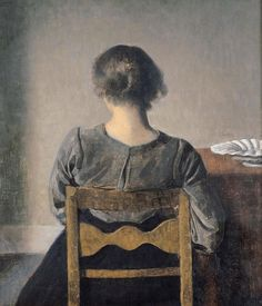 """A Vermeer-like feeling of tranquility emanates from many of the paintings by Vilhelm Hammershøi on show at the Musée Jacquemart-André in the exhibition """"Hammershøi: Danish Painting Master. Pierre Auguste Cot, Photografy Art, Jean Leon, Oil Canvas, Scandinavia Design, Google Art Project, Edgar Degas, Interior Paint Colors, Interior Painting"""