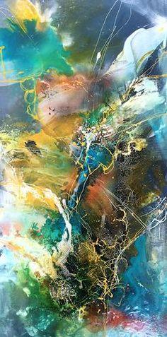 """Ursi Goetz, """"Im Fluss"""" Mit einem Klick auf """"Als Kunstkarte versenden"""" versenden Sie kostenlos dieses Werk Ihren Freunden und Bekannten."""