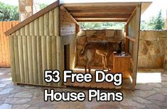 53 Free Dog House Plans. Dog houses are fairly simple projects and can be usually be completed by someone with just basic building skills.
