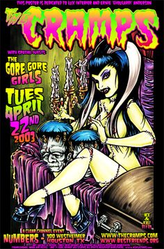 Both delectably and deliciously dark psychobilly artwork by Johnny Ace.