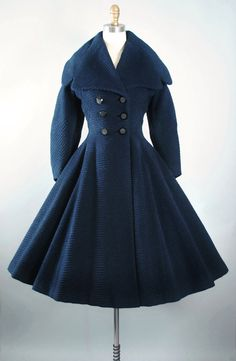 Vintage 50s LILLI ANN Princess Coat / 1950s by GeronimoVintage