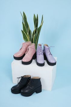 thewhitepepper:    STYLE ESSENTIALS : THE BOOTS Round Toe Walker Boot Pink   Round Toe Walker Boot Lilac   Round Toe Walker Boot Black Styling and Photography by THE WHITEPEPPER Like us on FacebookFollow us on Instagram