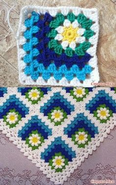 Discover thousands of images about Crochet motif chart patterncrochet square pattern Crochet Bedspread Patterns Part 17 - Beautiful Crochet Patterns and Knitting Patterns - Crochet Bedspread Patterns Part Granny Square Rose SThis Pin was di Point Granny Au Crochet, Granny Square Crochet Pattern, Crochet Blocks, Crochet Squares, Crochet Motif, Crochet Designs, Crochet Stitches, Crochet Afghans, Crochet Bedspread