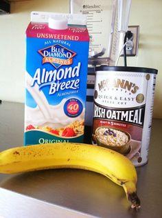 Banana Almond Oatmeal Milkshake