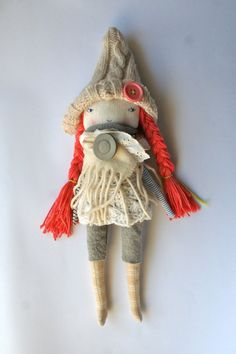 """RESERVED LISTING - for Valerie peaches and cream pixie little lu doll 13""""ish rag…"""