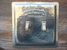 Vintage Kitchen Bake King Baking Pan Double by tincansally on Etsy   LOVE these.  she makes switch plates from vintage tins.