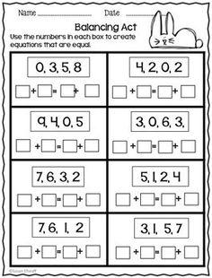 Balancing Equations - Addition and Subtraction by First Grade Friendly Frogs | Teachers Pay Teachers