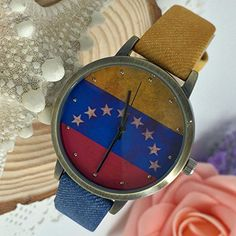 Kezzi Women's K1048 Casual Quartz Venezuela Flag Dial Watch Blue Red Leather Strap Kezzi http://www.amazon.com/dp/B00WTOLS6K/ref=cm_sw_r_pi_dp_ZKzvvb051K9MD